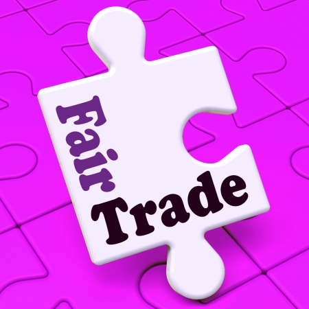 fairtrade: Fairtrade Puzzle Showing Fair Trade Product Or Products