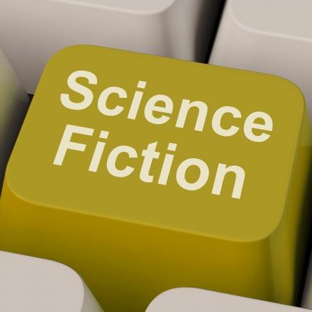 sci: Ciencia Ficci�n Clave Mostrando Sci Fi Libros y videos Foto de archivo