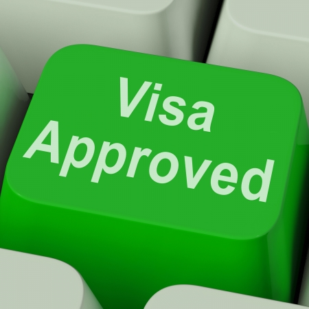 schengen: Visa Approved Key Showing Country Admission Authorized
