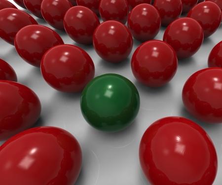 distinctness: Unique Sphere Shows Uncommon Variation Or Exception Stock Photo