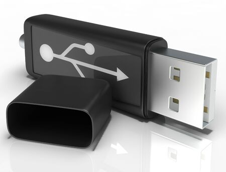 Usb Removable Flash Showing Portable Storage Or Memory photo