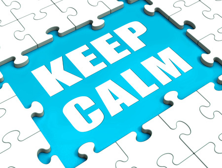 composure: Keep Calm Puzzle Showing Calmness Relax And Composed