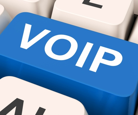 voip: Voip Key Meaning Voice Over Internet Protocol Or Broadband Telephony  Stock Photo