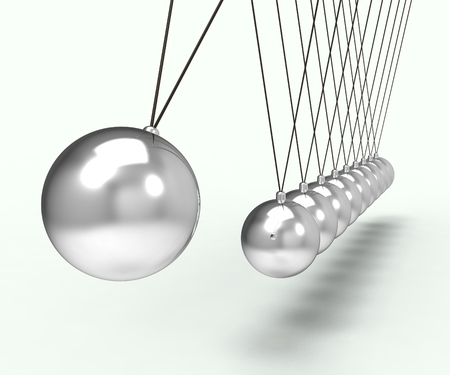 gravity: Newton Cradle Shows Energy Motion And Gravity