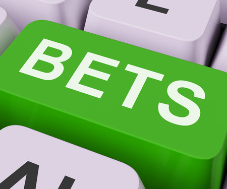 bets: Bets Key Showing Online Or Internet Gambling