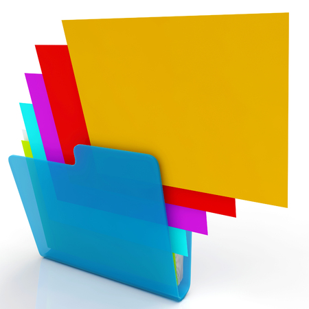 organizing: Files Shows Organizing Documents Filing And Paperwork Stock Photo