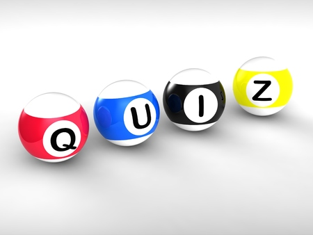 Quiz Word Showing Test Questionnaire Or Quizzing photo
