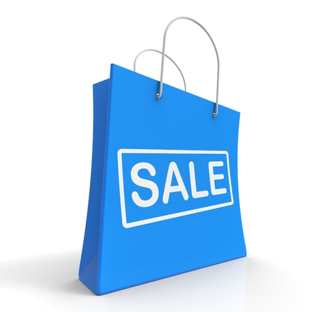 markdown: Sale Shopping Bag Shows Discount Or Markdown