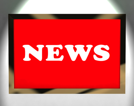 News Screen Shows Media Newspaper And Information Online photo