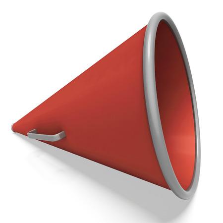 loud hailer: Loud Hailer Showing Megaphone Or Shouting Announcement