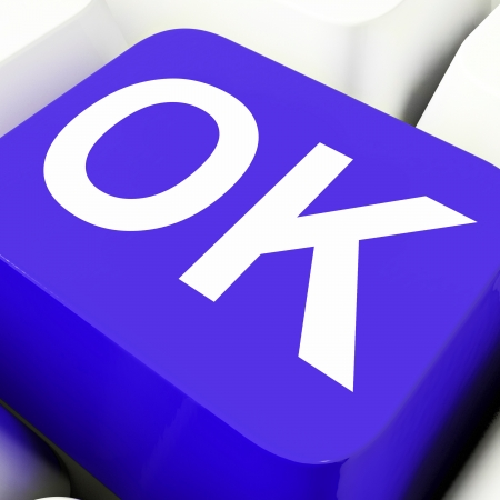 Ok Key Meaning Approved Correct Or Passed Stock Photo - 22702285