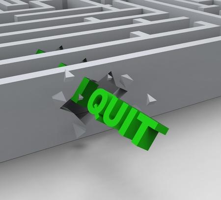 resignation: Quit Word Shows Resignation Quitting Or Resigning