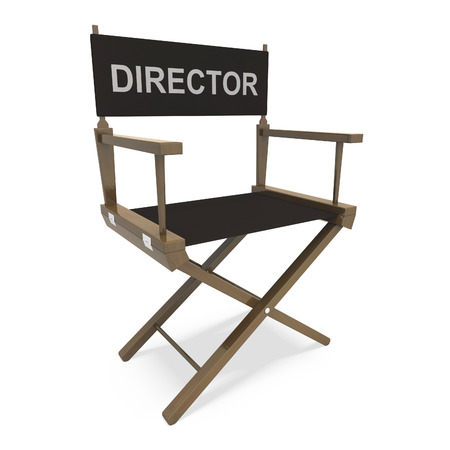 Director Chair Showing Film Producer Or Moviemaker