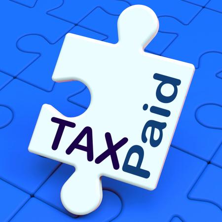 excise: Tax Puzzle Paid Risultati Duty o pagamento delle accise