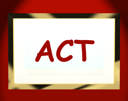 encouraged: Act On Screen Showing Motivation Inspiration Or Performing Stock Photo