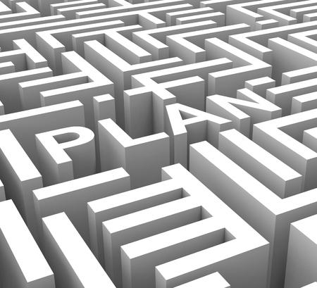Plan de Word affiche Stratégie Plan ou Plan d'affaires