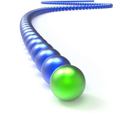 Leading Metallic Balls In Chain Shows Leadership And Vision