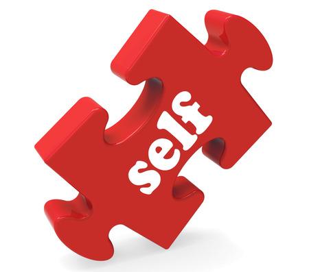 zelf doen: Zelf puzzel met Believe Me Yourself of Myself Stockfoto