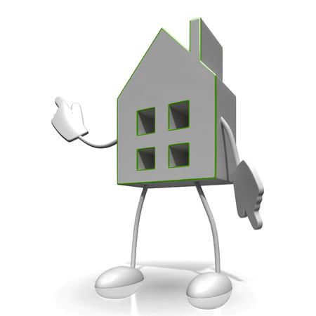 House Character Showing Home Or Building For Sale Stock Photo - 22640843