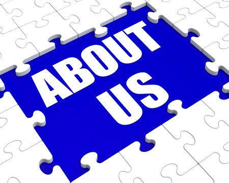 Qui sommes-nous Puzzle Affichage Profil de l'entreprise et de l'information