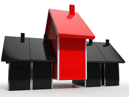 House Icon Means Home Or Building For Sale Stock Photo - 22703209