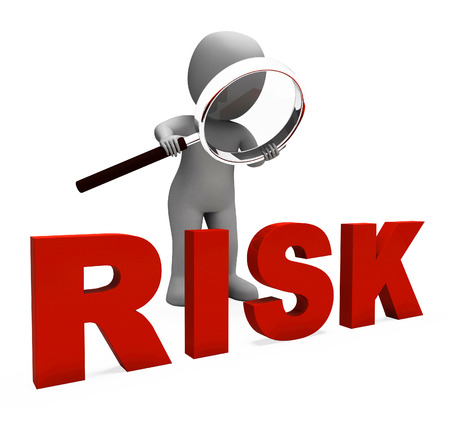 kockázatos: Kockázatvállalása A következő veszélyes veszélyt vagy kockázatot Stock fotó