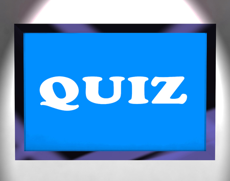 Quiz Screen Meaning Test Quizzes Or Questioning Online  photo