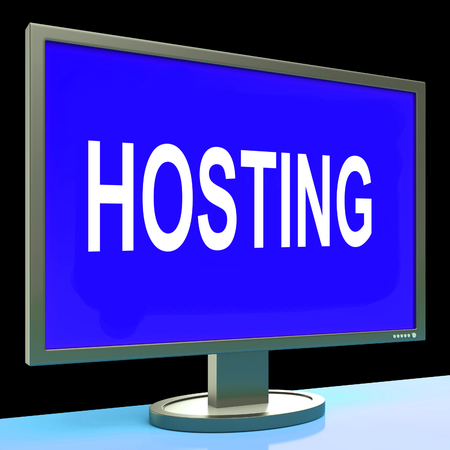 webhosting: Hosting Showing Web Internet Or Website Domain