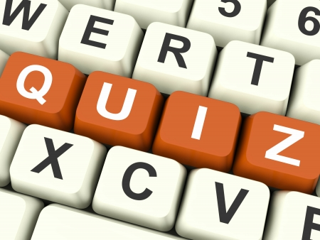 Quiz Keys Showing Test Or Questions And Answers  photo