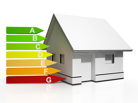 Energy Efficiency Rating And House Showing Conservation And Savings Photo