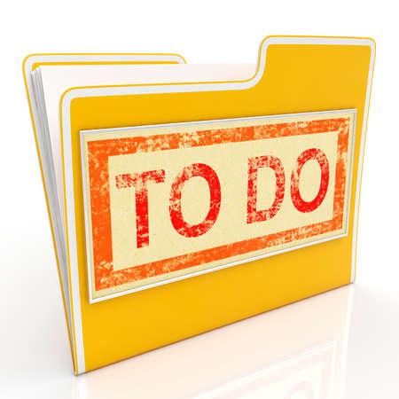 organise: Para archivo Mostrando sindicaci�n y de planificaci�n de tareas Foto de archivo