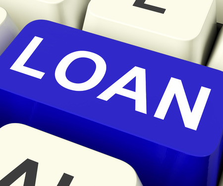 Loan Key Meaning Lending Or Providing Advance Stock Photo - 26063551