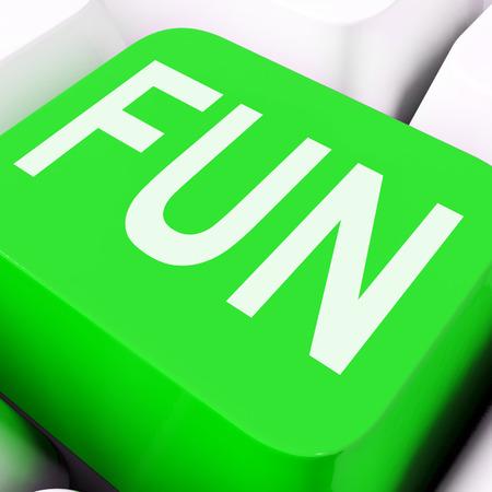 Fun Key On The Keyboard Meaning Enjoyment Amusement Or Pleasing  Stock Photo