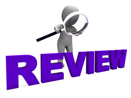 Review Character Showing Reviewing Evaluate And Reviews