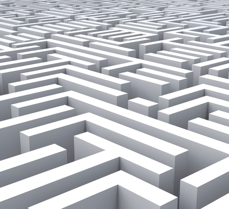 puzzling: Maze Shows Problem Confusing Puzzling Or Complexity