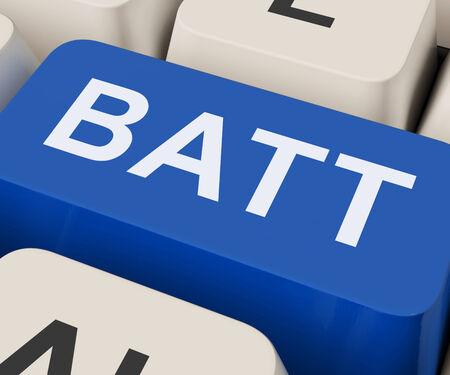 recharge: Batt Keys Showing Battery Or Batteries Recharge Stock Photo