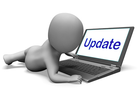 upgrading: Update Character Laptop Meaning Updating Modifying Or Upgrading