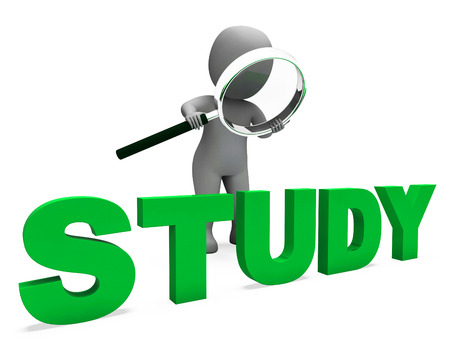 Study Character Showing Studying Learning Or Education