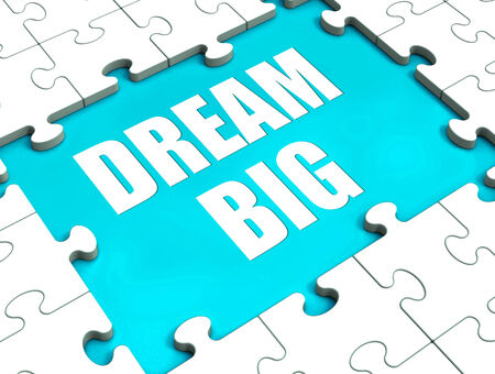 Dream Big Puzzle Showing Hope Desire And Huge Ambition