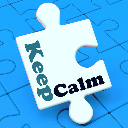 composure: Keep Calm Puzzle Showing Calming Relax And Composed