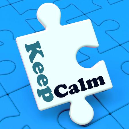 composure: Tenere Puzzle calma Mostrando Calming Relax e composto