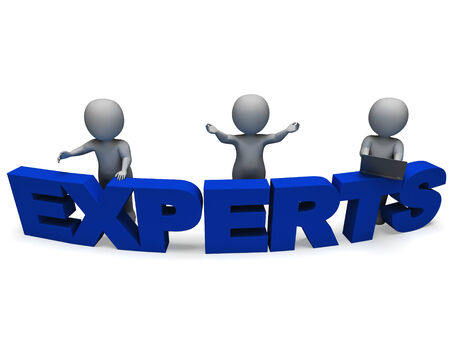 Experts Word Shows Expertise Advice And Consultants