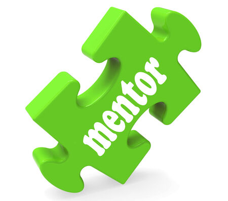 mentors: Mentor Puzzle Showing Advice Mentoring And Mentors Stock Photo