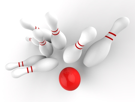 skittles: Bowling Strike Showing Ten Pin Skittles Game Success
