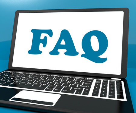 inquiries: Faq On Laptop Showing Solution And Frequently Asked Questions Online