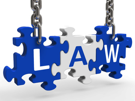 legally: Law Puzzle Meaning Legally Lawful Statute Or Judicial