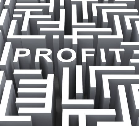 Profit Word Shows Financial Revenue Profits Or Earnings photo
