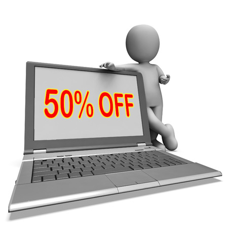 deduction: Fifty Percent Off Monitor Meaning Deduction Or Sale Online