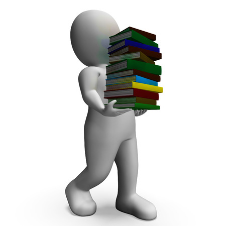 Student Carrying Books Shows Education And Studying