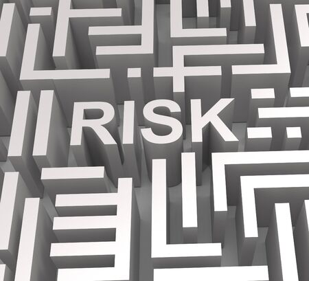 heavy risk: Risky Maze Shows Dangerous Unstable Or Risk Stock Photo